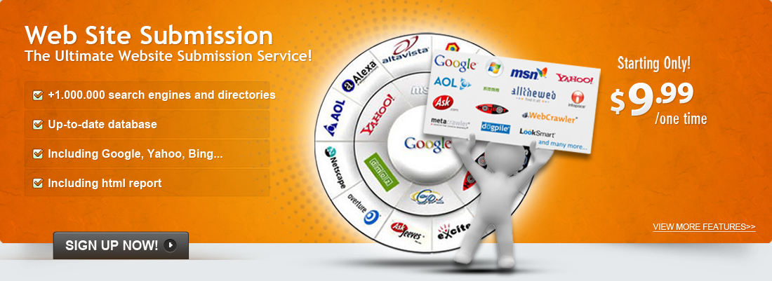 The Ultimate Website Submission Service With an +1.000.000 Search Engines and Directories Up-to-date database!
