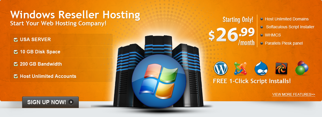 Start Your Web Hosting Company With a Windows Reseller Hosting !